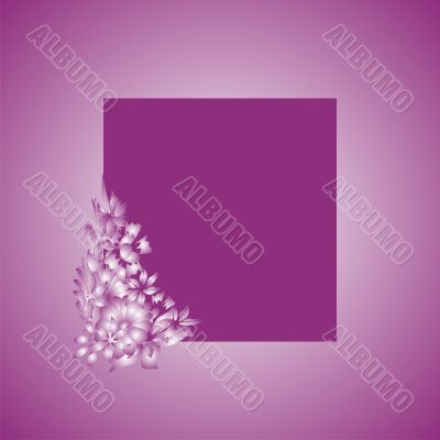 a violet scope is with floral elements