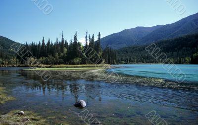Landscape at Kanas Lake,China