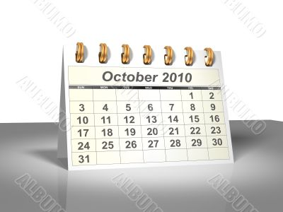 October 2010 Desktop Calendar.