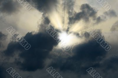 Sunshine making the way through clouds