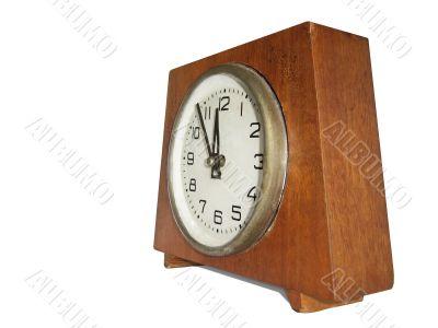 retro antique clock isolated over white_1