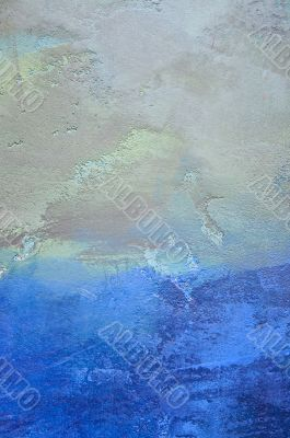 Abstract, grunge, faded painted wall