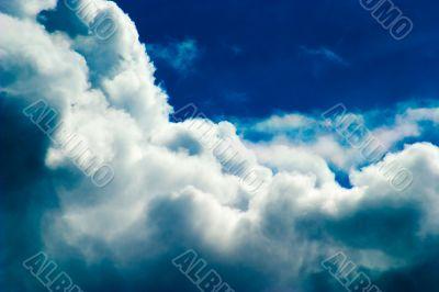 Scenic cumulus clouds