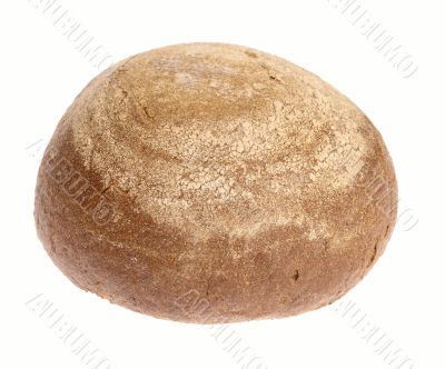 Peasant Bread on white background