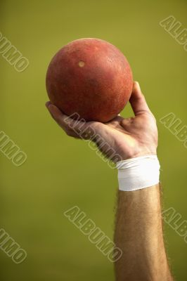 Close-Up of Ball for Shot Put Event
