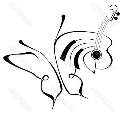 Butterfly music - abstract composition