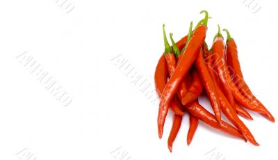 Fresh Ripe Cayenne Peppers