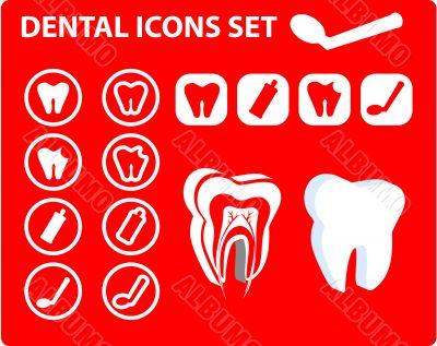 Medical Dental icons, tooth scheme, emblem, illustration. Simply
