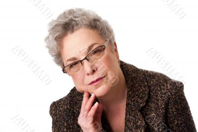 Senior woman thinking about future