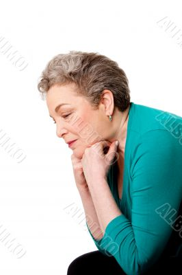 Senior woman thinking of her future