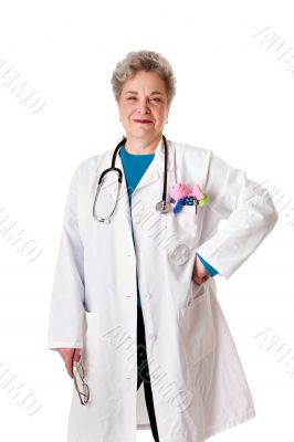 Happy smiling friendly pediatrician doctor nurse