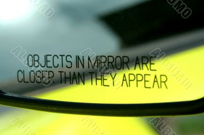 Objects in mirror are closer then they appear