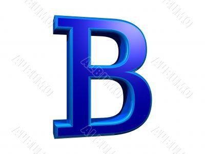 letra b mayuscula