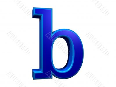 letra b minuscula
