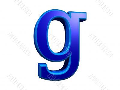 letra g minuscula