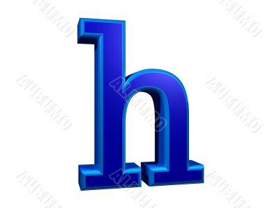 letra h minuscula