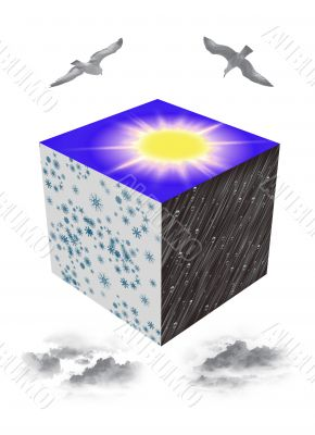 Cube with seasons