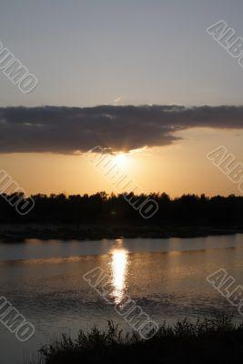 Landscapes Akhtuba rivers
