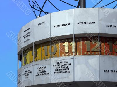 Berlin -  Part of World Time Clock, Alexanderplatz