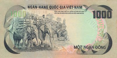 1000 Dong bill of Vietnam
