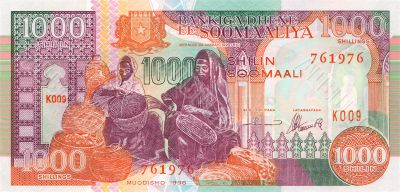 1000 shillings banknote