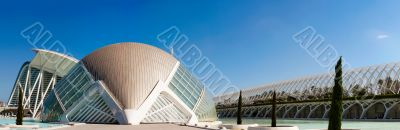 VALENCIA, SPAIN - SEPTEMBER 17: Day panoramic scenery of Hemisfe