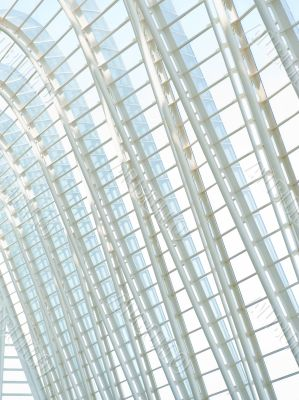 VALENCIA, SPAIN - SEPTEMBER 17: Beautiful glass and metal archit