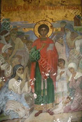 New Aphon monastery. Abkhazia. Saint Panteleimon icon