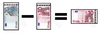 Abstract picture with money