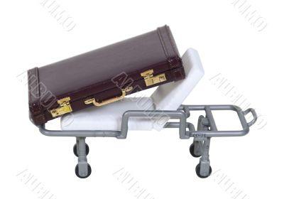 Briefcase on Hospital Gurney