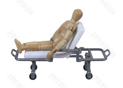 Patient Sitting on a Gurney