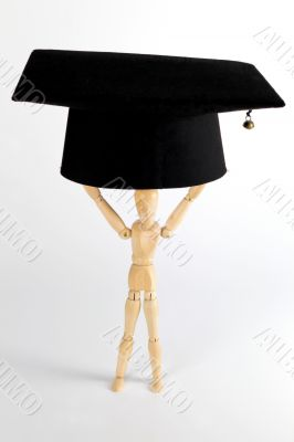 Mortarboard - lifting