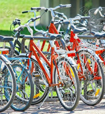 Bicycle parking in City Park