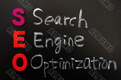 Acronym of SEO - Search engine optimization