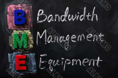 Acronym of BME for Bandwidth Management Equipment