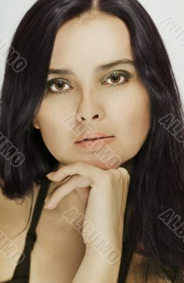 Portrait of a beautiful dark-haired woman