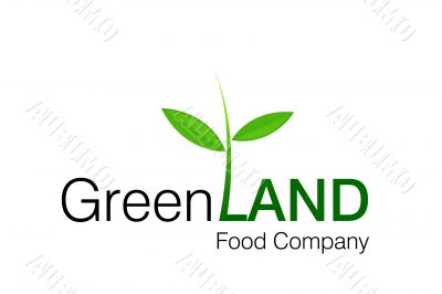 Green Land Logo for food and constructions Companies