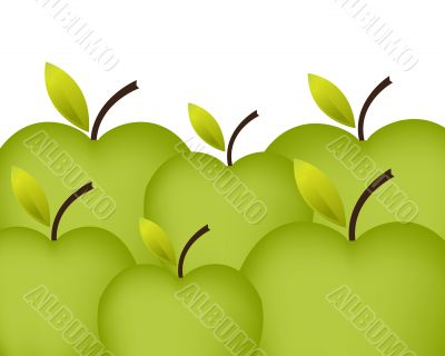 Art illustration for fresh and healthy fruit