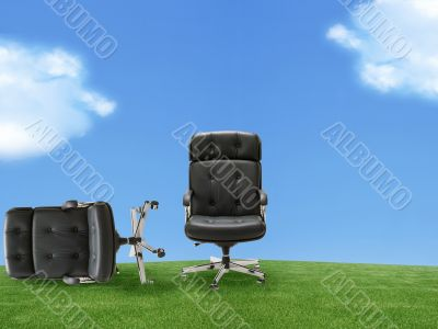 Two armchair outdoor