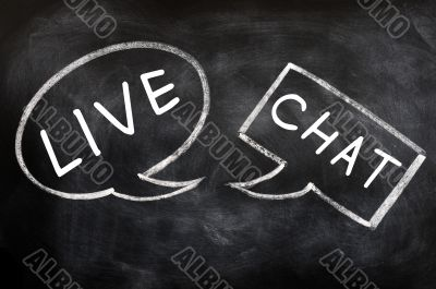 Speech bubbles for live chat