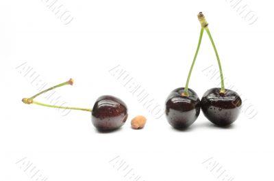Berry juicy cherries