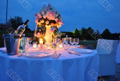 Romantic Outdoor Dinner