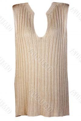 Beige knitted vest