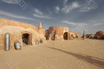 Space port in the desert