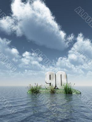 number ninety monument