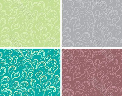 Curly seamless background