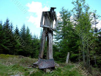Wooden Lumberjack Statue