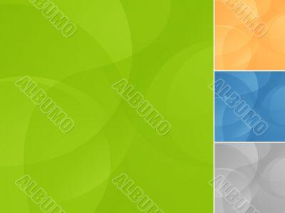 EPS10 wave background in 4 variants
