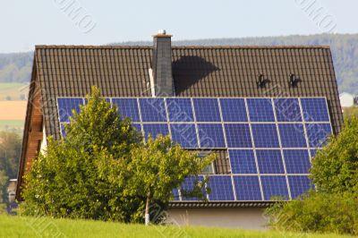 Haus mit Solar Technik , House with Solar technology