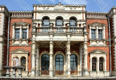 Facade of the old estate built in classical style